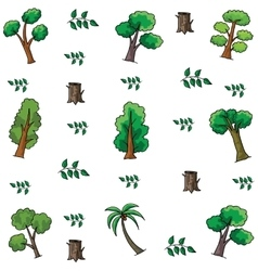 Tree and leaf style doodles vector image vector image