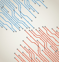 Abstract background of metro lines with arrows vector image vector image