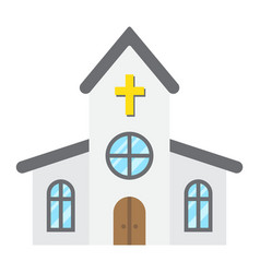 church flat icon easter and holiday vector image vector image