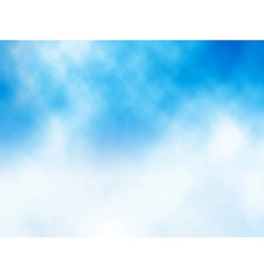 Cloud on blue vector image