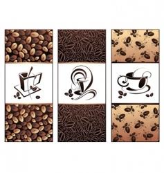 coffee tea banners vector image vector image