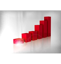 graph red vector image vector image