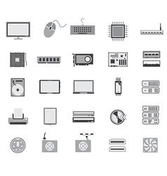 gray computer device icon design vector image