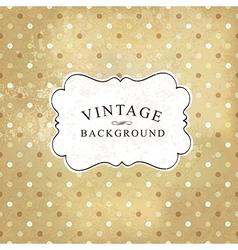 vintage polka dot vector image