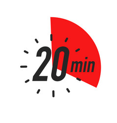 20 minutes timer symbol color style vector
