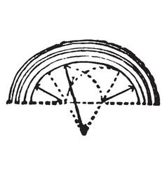 Arch elipse vintage engraving vector