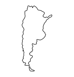 Argentina map icon outline style vector image