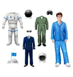 Astronaut Boy Set vector