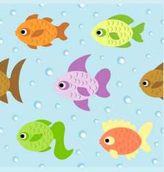 Background seamless card with fish vector