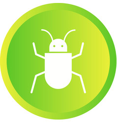 Beautiful bug glyph icon vector
