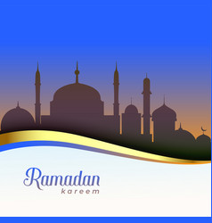 Beautiful ramadan kareem scene background vector