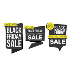 black friday sale banner collection vector image