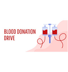 blood donation drive design poster vector image
