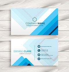 Blue stripes business card vector