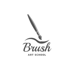 Brush emblem vector image