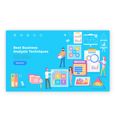 business analytics technique website promotion vector image