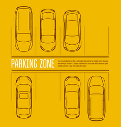 car parking lot - top view cars in park zone vector image