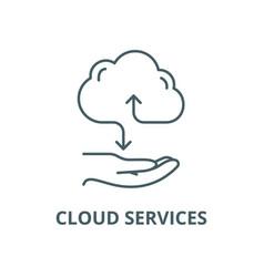 cloud services line icon linear concept vector image