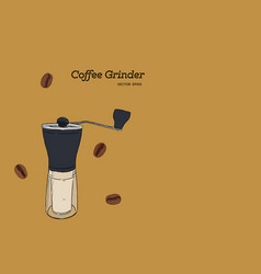 coffee grinder hand draw vector image