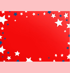 decorative frame with color stars on red vector image