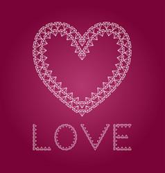 diamond heart like love vector image