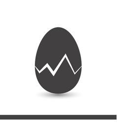 egg shell icon vector image