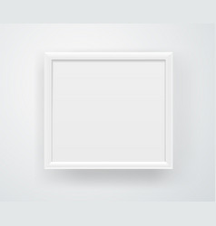 Empty square white frame on a wall layout vector