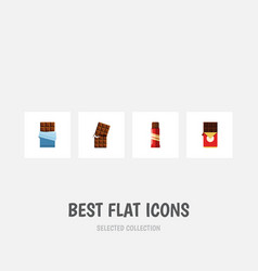 flat icon chocolate set of wrapper chocolate bar vector image