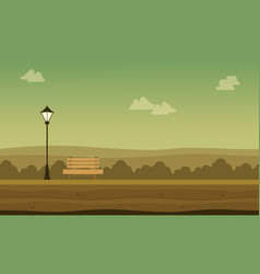 flat of garden with chair scenery vector image