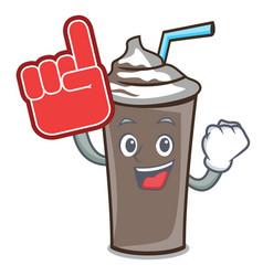 foam finger ice chocolate mascot cartoon vector image