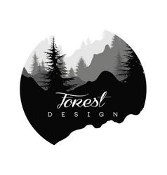 Forest logo design nature landscape vector