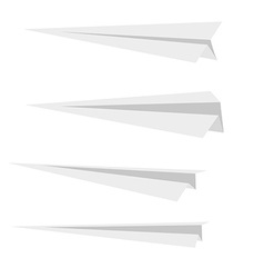 Four paper planes vector