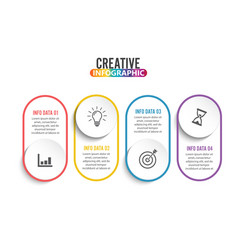 Four steps infographics - can a strategy vector