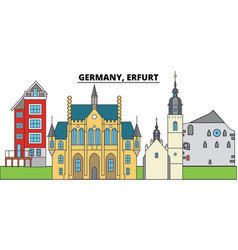 germany erfurt city skyline architecture vector image