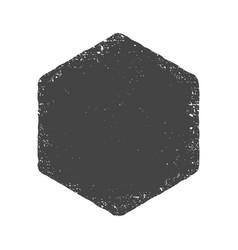 grunge hexagon shape dirty texture vector image