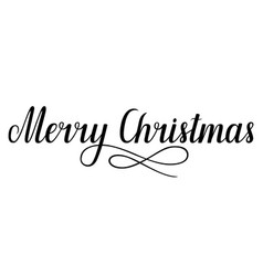 handwritten lettering merry christmas vector image