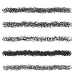 hatching pencil stroke lines set black pen vector image
