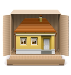 House in carton box vector