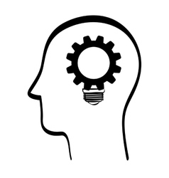 innovate design idea icon flat vector image