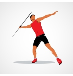 Javelin throw Athlete vector