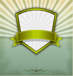 Label badge with sunburst background vector