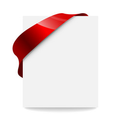 label price tag with a red ribbon vector image