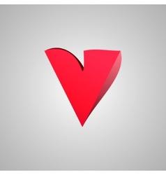 Letter V comic style font EPS10 vector image