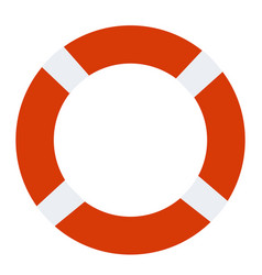 lifebuoy icon on white background lifebuoy sign vector image