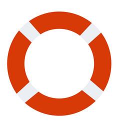 Lifebuoy icon on white background lifebuoy sign vector