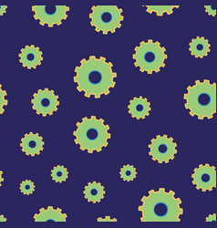 Looks like flowers but its cogs or gears on blue vector