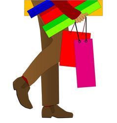 man shopping vector image