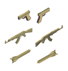 military weapons isometric vector image