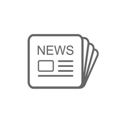 news icon placed on white vector image
