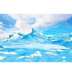 Norway high mountains vector